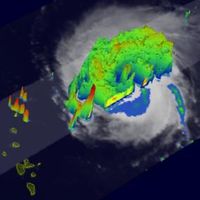 link to images  of hurricane Frances 15dbz isosurface 2004